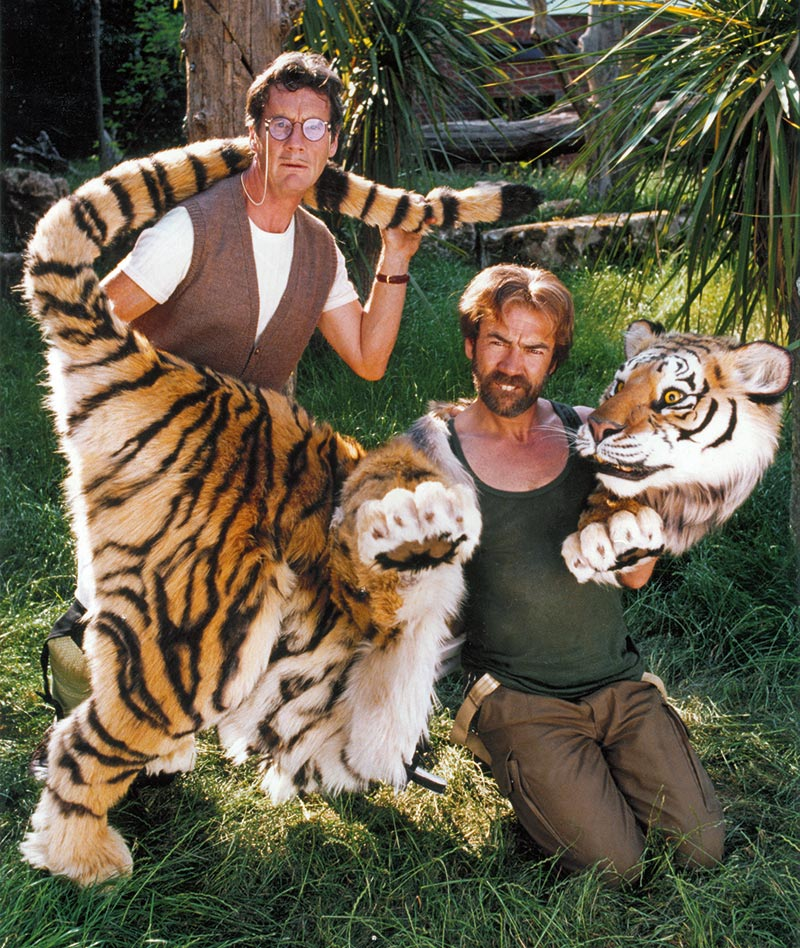 As Bugsy in Fierce Creatures. With Robert Lindsay and our tiger.