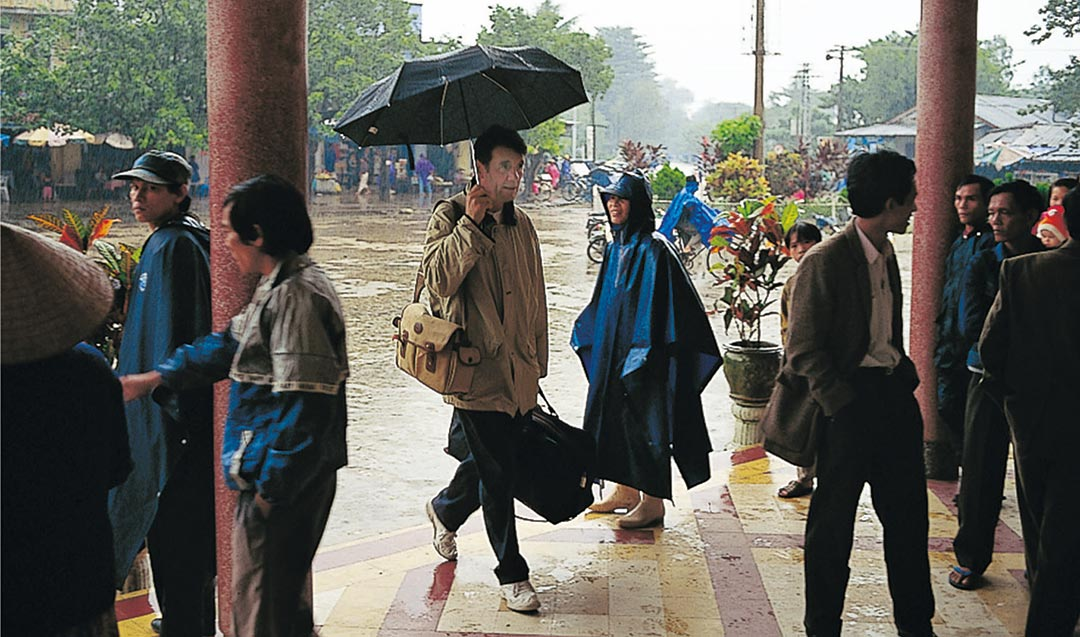 Filming in the monsoon is not to be recommended. Hue Station, Vietnam, November 23rd, 1995.